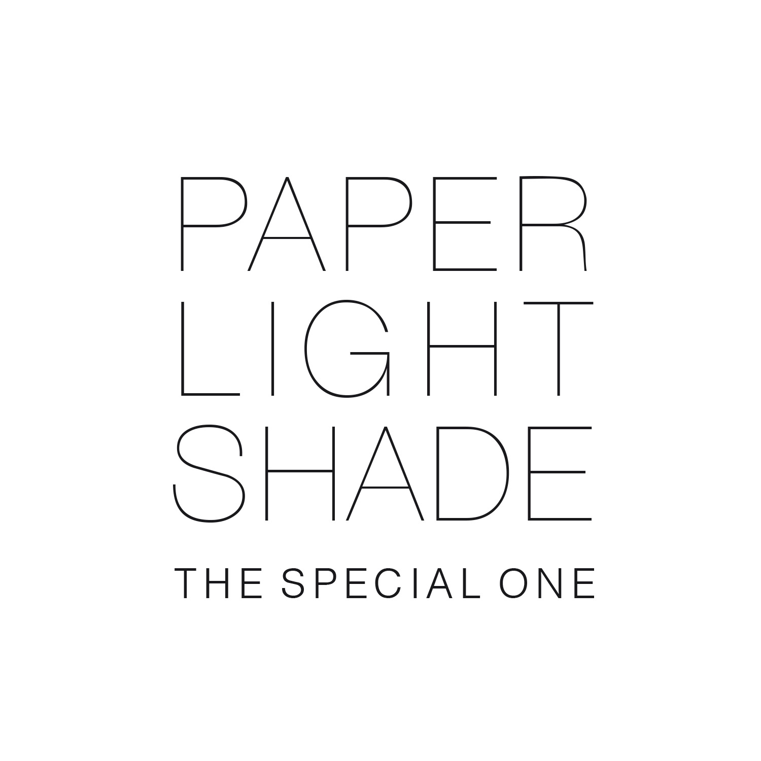 Paper Light Shade - The Special One