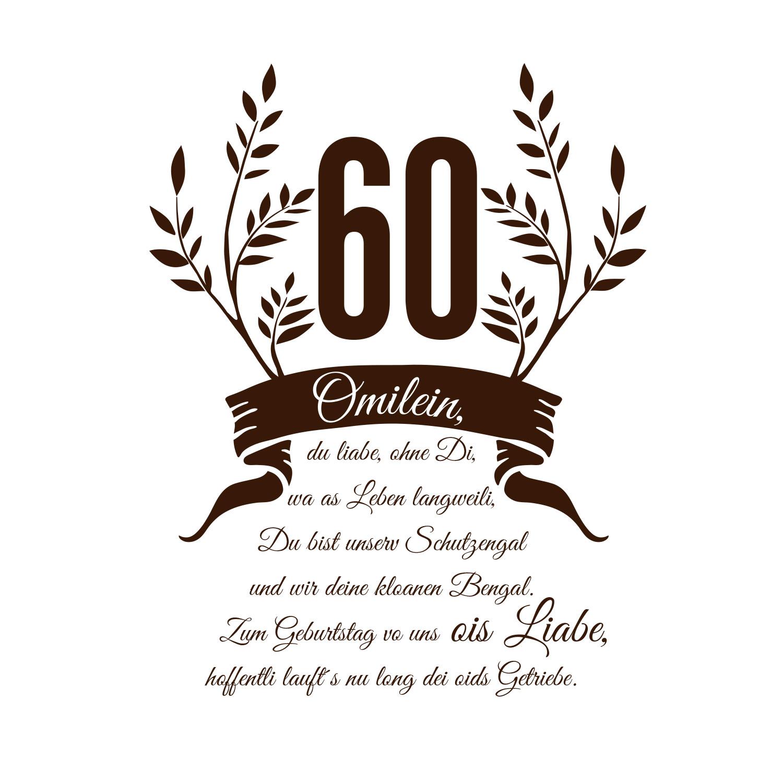 "Geburtstagsmotiv zum 60er - Paper Light Shade Motiv ""Geburtstag"" - The Special One"