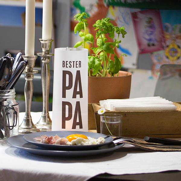 BESTER PAPA - Paper Light Shades zum Vatertag aus dem Hause MORI
