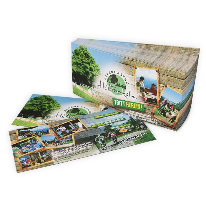 Flyer für Alpengasthof
