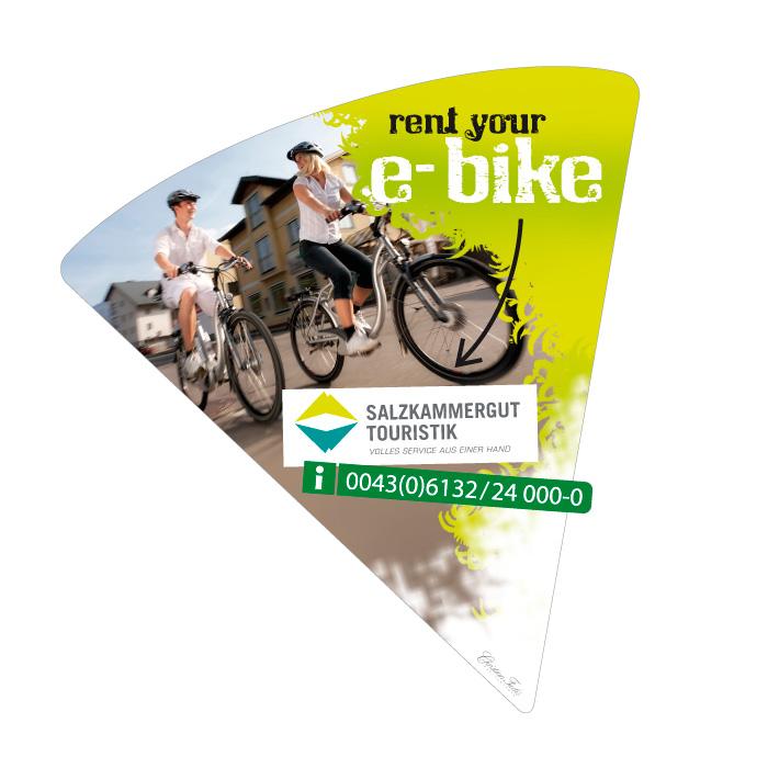 Aufkleber auf E-Bike