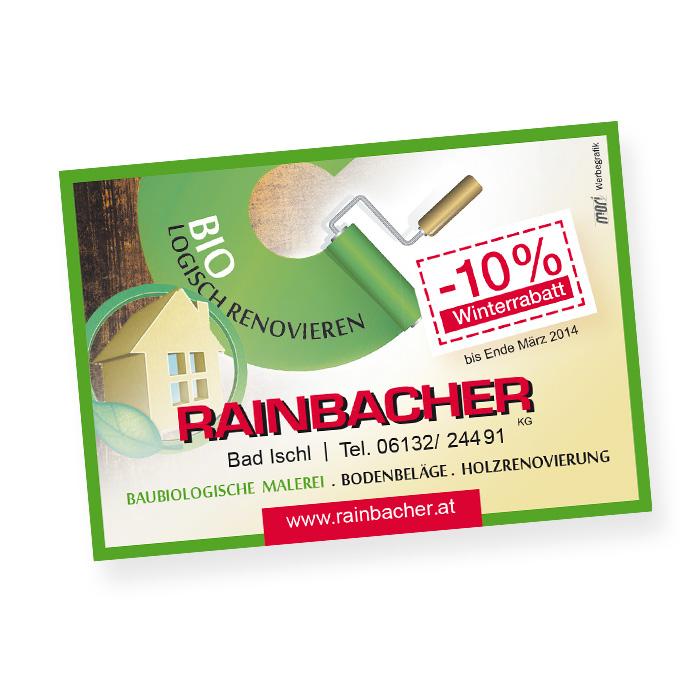 Einschaltung für Rainbacher Malerei