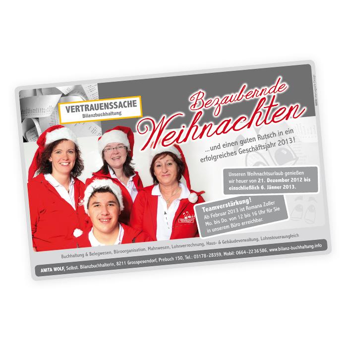 Weihnachtseinschaltung für Anita Wolf
