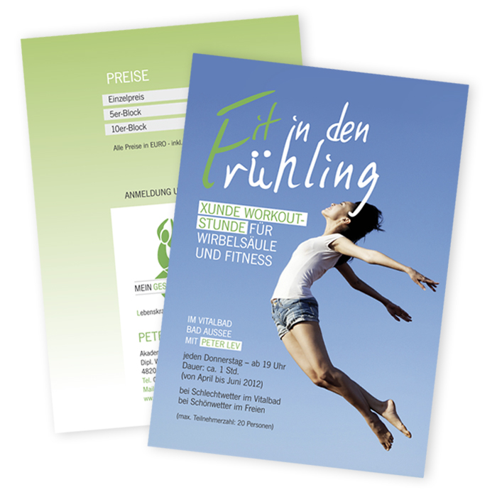 Flyer-fit in den Frühling