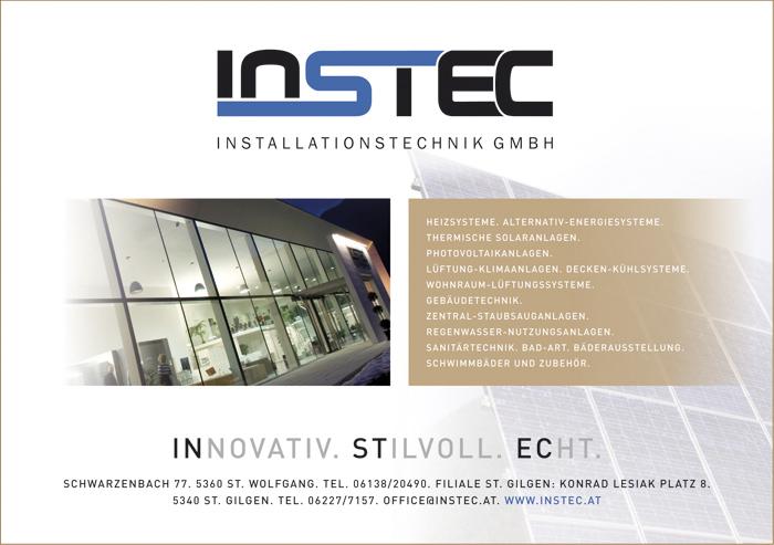 Einschaltung für INSTEC