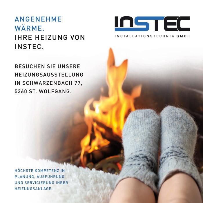 Werbetafel für INSTEC