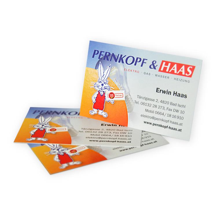 Visitenkarten für Pernkopf-Haas