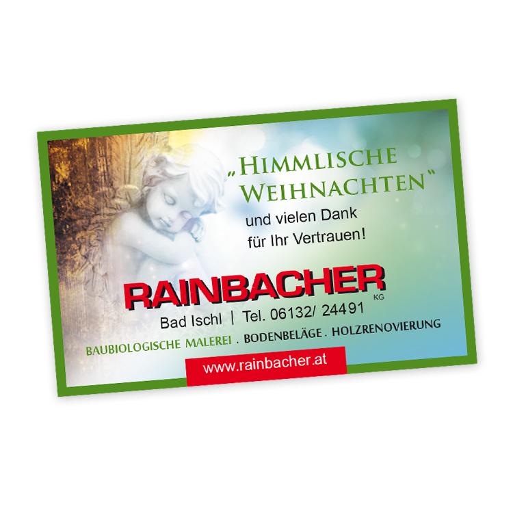 Weihnachtliche Einschaltung für Rainbacher