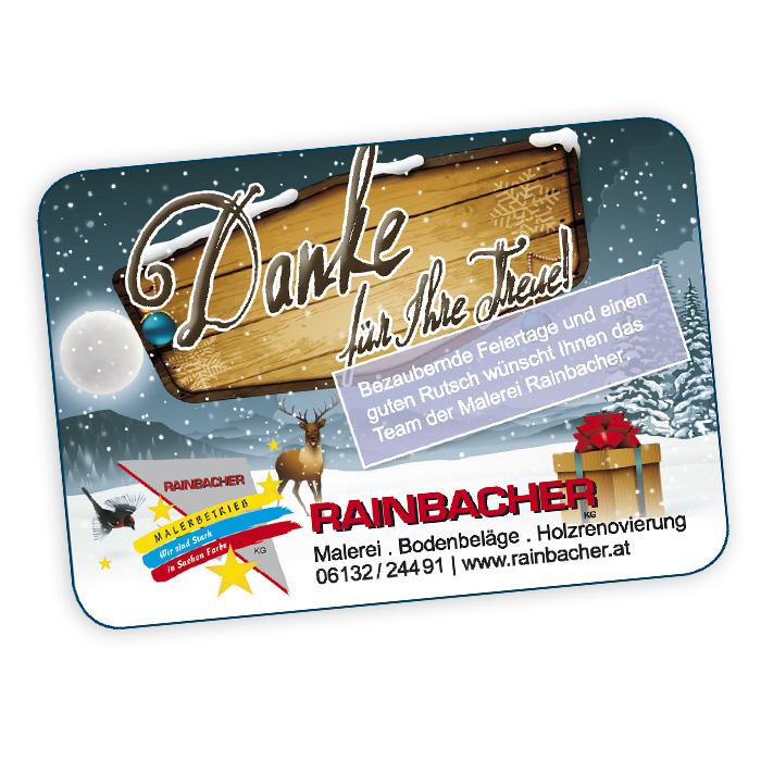 Weihnachtseinschaltung für Rainbacher