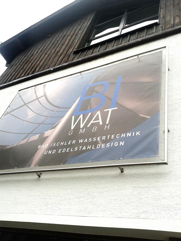 BI-WAT GmbH Banner für Fassadengestaltung