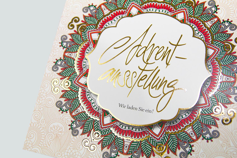 Einladungen Adventausstellung 2014 - Blumenreich im Pfandl