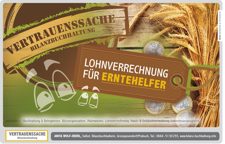 Einschaltung Anita Wolf-Eberl Bilanzbuchhaltung - Vertrauenssache