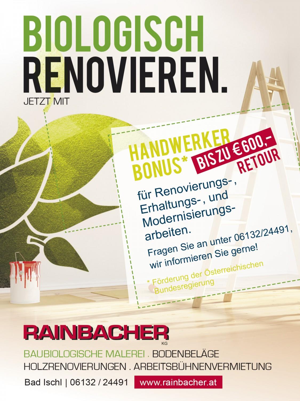 Einschaltung Rainbacher