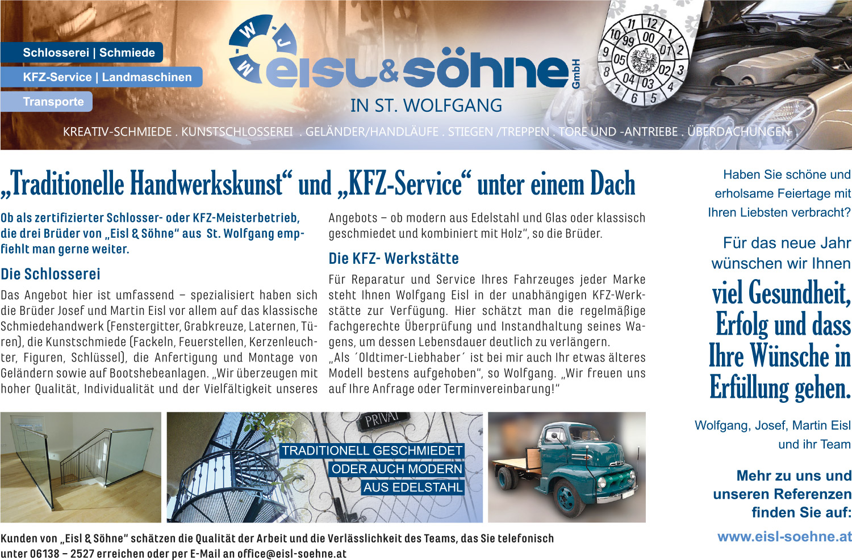 Einschaltung/PR für Eisl & Söhne GmbH