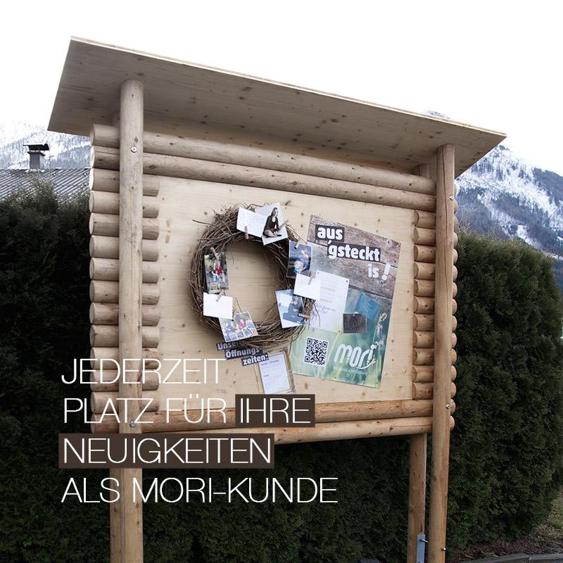 Jederzeit Platz   MORI-Anschlag-/Infotafel in Aigen-Voglhub/Bad Ischl
