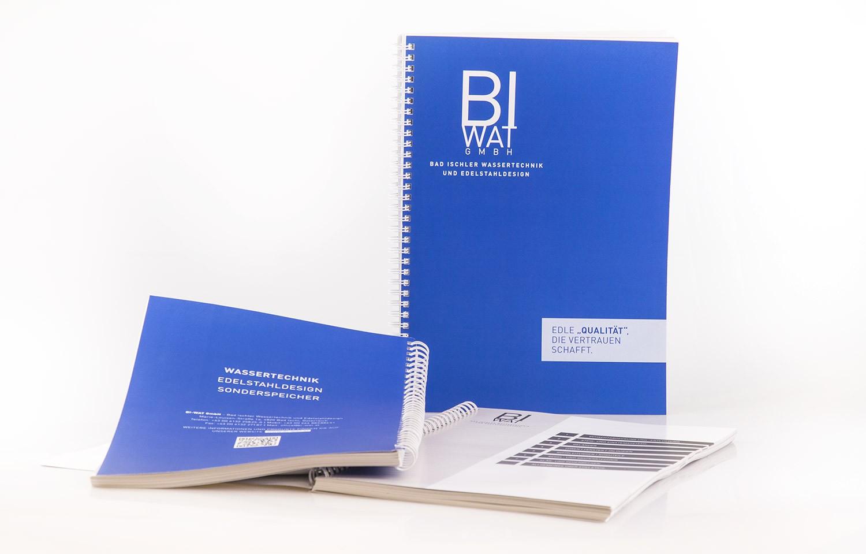 Produktkatalog gestaltet für BI-WAT - MORI Werbung & Fotografie