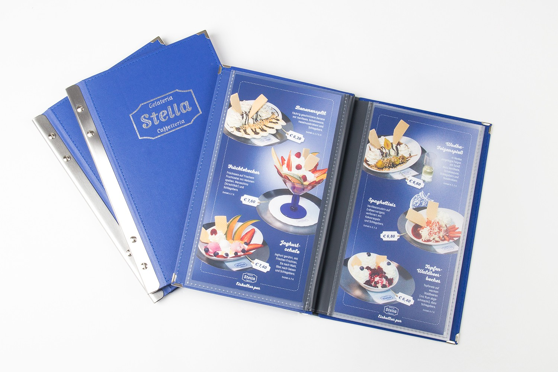Eiskarte erstellt für Gelateria & Caffeterria Stella in St.Wolfgang