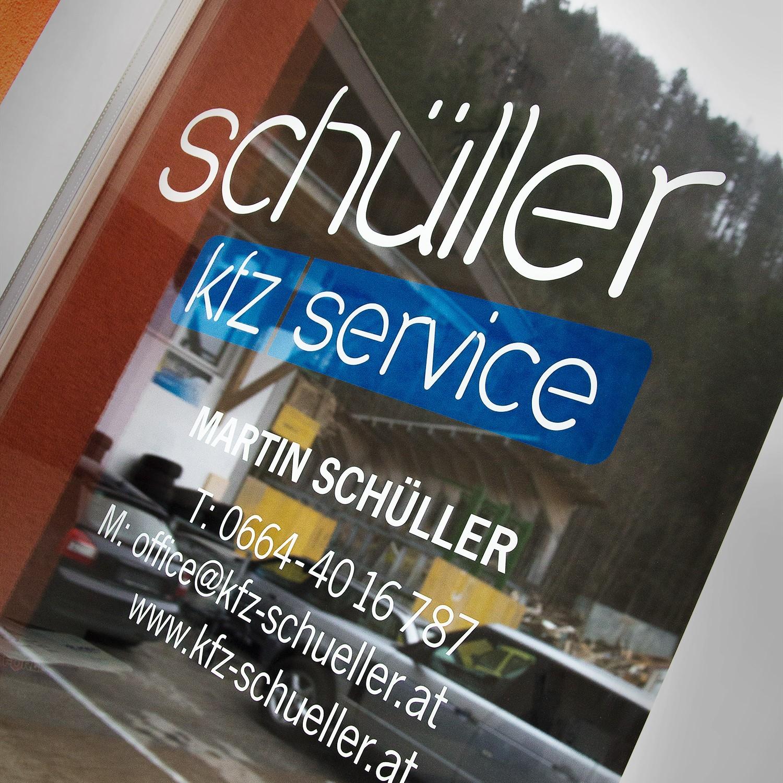 Aufkleber für KFZ-Stelle Martin Schüller
