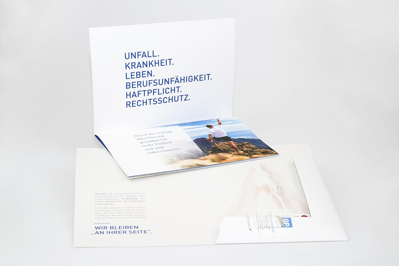 Präsentationsmappen gestaltet von MORI Werbung & Fotografie für GP-Versicherungsservice