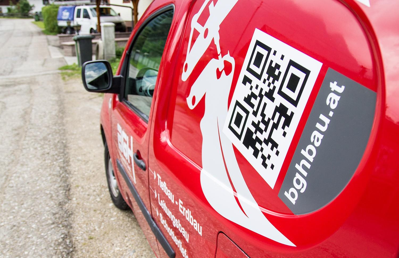 Fahrzeugbeschriftung für BGH Baugesmbh Deisl - MORI Werbung & Fotografie